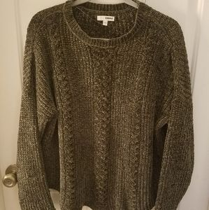 Sonoma Chenille Knit Sweater in Olive Green